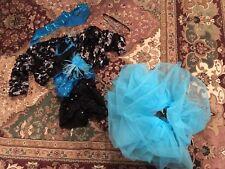 Lucky Star Costume Gallery Child Medium Blue Black Silver 5 Piece Recital Dance