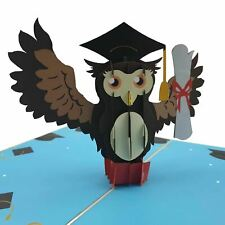 Graduation Owl 3d pop up card