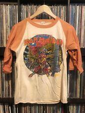 Vintage Iron Maiden Somewhere In Time Shirt Raglan Tshirt Rare