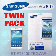 GENUINE Samsung Galaxy Tab 3 Clear 8.0 inch LCD Screen Protector Guard x 2 Kit