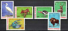 Romania 1980 MNH 6v, Birds, Stork, Animals, Deer(W4)