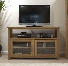 Eton solid oak living room furniture tv cabinet stand entertainment unit