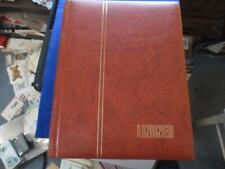 LINDNER STOCKBOOK, 30 DOUBLE SIDED GLASSINE LINED PAGES