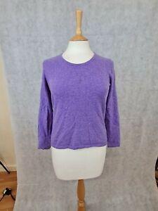 Lands End Cashmere Ladies Purple Jumper Size Medium