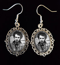 SID VICIOUS Antique Silver Drop Earrings Music CD Icon Punk Sex Pistols