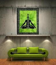 Indian Green 7 Chakra Buddha Religious Mandala Wall Hangin Tapestry Poster Throw
