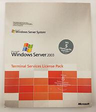 5er CAL USER (Benutzer) für Windows 2003 Terminal Server RDS Remote Desktop