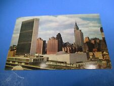 1961 Aerial View of The United Nations HQ New York City Vintage Postcard PC45