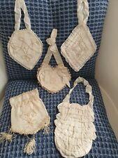 Lot de 5 Aumonières bourse sac pochette communion mariage  - 685