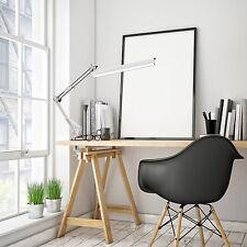 Desk Lamp Work Reading Adjustable Folding Clip-on LED Table Swing Arm Light Lamp