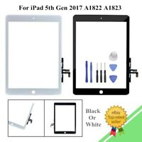 For iPad 5th Gen 2017 A1822 A1823 Touch Screen Digitizer Lens Glass Replacement-