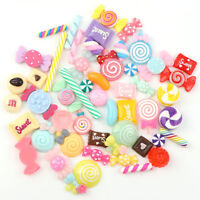 30pcs Mix Colors Cabochons Glitter Confetti Candy Resin Kid DIY Phone Decoration