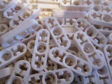 LEGO Technic 10 Cavi Sottili Piatta 1 x 3 con 2 Fori Asse Bianco