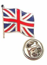 Union Jack Waving Flag Great Britain Quality Enamel Lapel Pin Badge T642