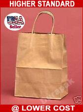 "250~ 8x4.5x10.25"" Natural Cub Kraft Paper Retail Shopper Gift Bag Shopping Bags"