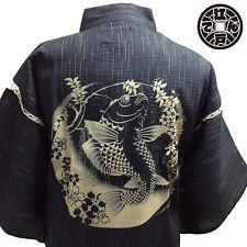 2019 JAPANESE Traditional Clothing Men's JINBEI 甚平 Nisikigoi - ONSEN HotSpring