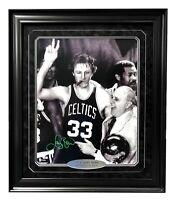 Larry Bird Signed Framed Celtics 16x20 w/ Auerbach Cigar Autograph Fanatics COA