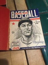 1949 The Sporting News Baseball Guide Leather Cover Still Attached Lou Boudreau