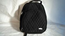 Travelon 1205 Black Quitted Nylon Cosmetic Backpack