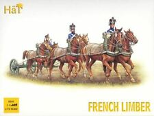 HAT INDUSTRIES 1/72 FRENCH HORSE LIMBER TEAM (3 SETS) | 8105