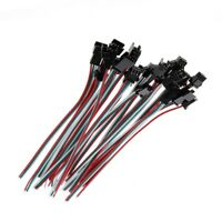 10 Pairs JST SM 3 Pin Male Female Plug Connector Cable For WS2811 LED Lamp Strip