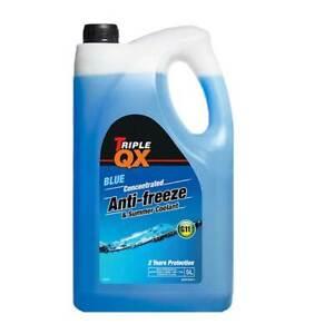 Triple QX 5L Blue AntiFreeze Summer Coolant Concentrate 5 Litre