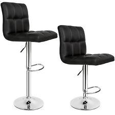 2x Sgabelli da bar moderni set da 2 sgabello design cucina sedia regolabile nero