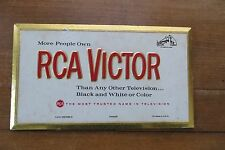 Old 1963 RCA VICTOR advertising sign, display, television store ad