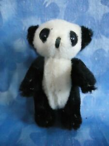 "$$ REDUCED $!! Schuco- Adorable & Unusual- 3"" Panda Mohair Teddy Bear- Jointed"