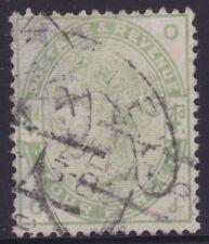1884 Great Britain GB QV 4d Queen Victoria Green Used      REF: QV0292