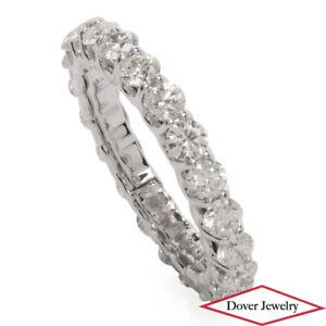 Estate 3.01ct Diamond 14K Gold Fancy Eternity Wedding Band Ring NR