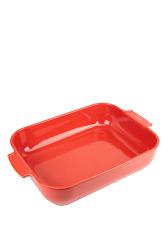 PEUGEOT - Plat four céramique rectangle rouge 40 cm - 16' Appolia