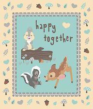 "1 Disney Bambi ""Happy Together"" Fabric  Panel"