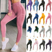 Women PUSH UP Seamless High Waist Yoga Pants Gym Leggings Fitness Sport Training