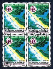 Costa d'avorio 1982 10° Anniversario per lo sviluppo quartina usata a