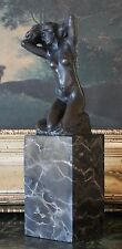 Classic Rodin Female Nude Figure Woman Bronze Marble Statue Sculpture Bookend