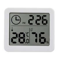 "3.2"" LCD Digital Temperature Humidity Meter Clock Kitchen Thermometer Hygrometer"