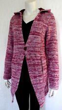 Damen Jacke Warme Strickjacke Longjacke Cardigan Kapuze Baumwolle Gr.34/36 NEU