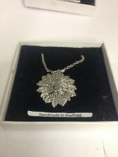 "Green Man PP-G76  Emblem on Silver Platinum Plated Necklace 18"""