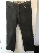 Burton Black Denim Snowboard Jeans KICKPLATES 36 X 30 broken in VGC