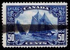 """1929 CANADA #158 SCHOONER """"BLUENOSE"""" - USED - F/VF - CV$48.75 (ESP#2431)"""