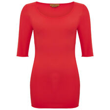 Hope Foundation manches 3/4 Scoop Top Corail Taille Double Curvy RRP £ 65 LS170 CC 11
