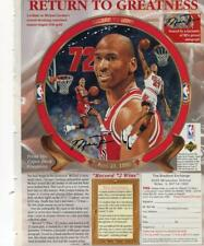 Michael Jordan Print Ad-Collector'S Plate Ad-Ready To Frame-Chicago Bulls #23