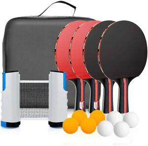 Ping Pong Set Portable Table Tennis Set PingPong Game Pingpong Racket Set (13pcs