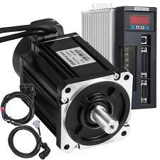 750W AC Servo Motor Servo Driver Kit 2.39NM 0.75KW Cable 90ST-M02430 CNC Mill