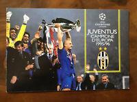 1996 Bolaffi Folder Juventus Campione D'Europa 1995/96 Coppa Campioni Champion +