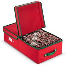 Christmas Underbed ornament Storage box - Fits Up To 64 Ornaments - Red