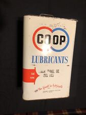 Vintage 10 Quart ~ 2 1/2 Gallon CO OP Lubricant Motor Oil Can Advertising Sign