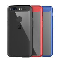 Luxury 2 In 1 Shockproof TPU +PC  Acrylic Back Protective Cover For OnePlus 5T
