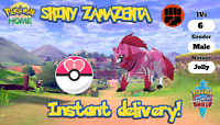SHINY ZAMAZENTA 6IV pokemon sword and shield home legendary mythical event Jolly